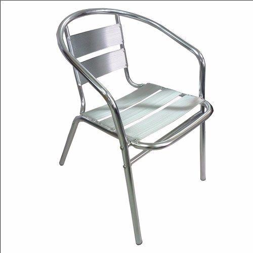 700 Silla Aluminio Apilables Bar Terraza Jardin Exteriores