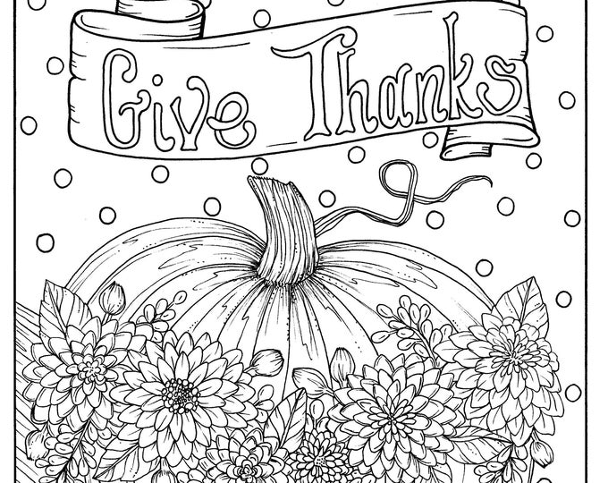 Download Fall Blessings Instant Digital Coloring Page Autumn Etsy Coloring Pages Digi Stamp Cool Coloring Pages