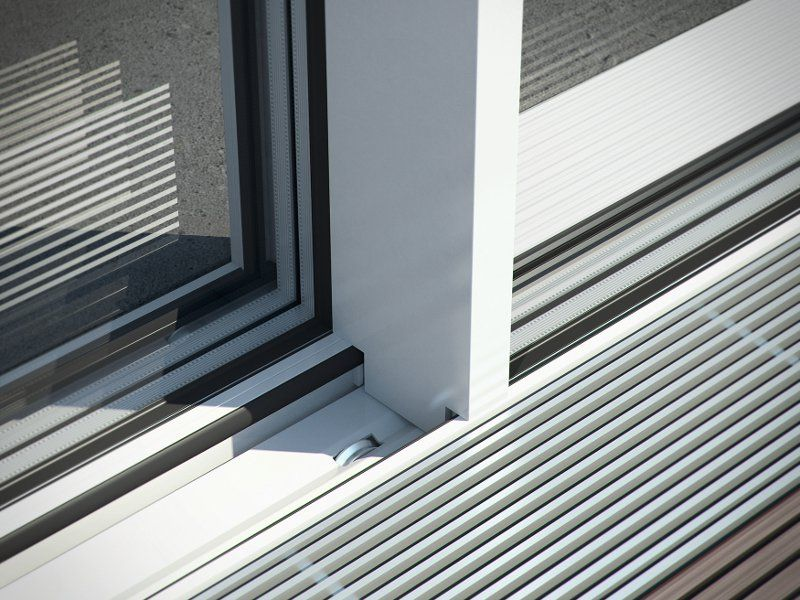 Terrassent r aus aluminium mit thermischer trennung sch co ass 77 pd hi by sch co international - Schiebefenster terrasse ...