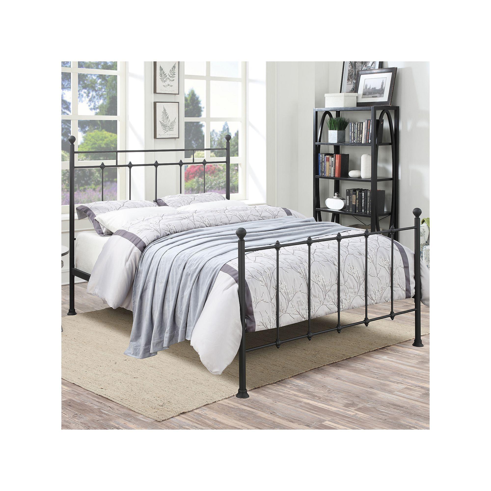 Pulaski All N One Queen Shaker Metal Bed Queen Metal Bed Black Queen Bed Frame Metal Beds