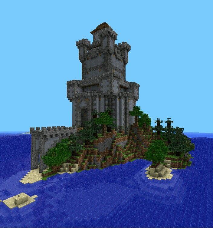 Island Keep Minecraft Minecraft Island Building
