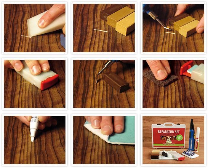kratzer im parkett reparieren schritt f r schritt. Black Bedroom Furniture Sets. Home Design Ideas