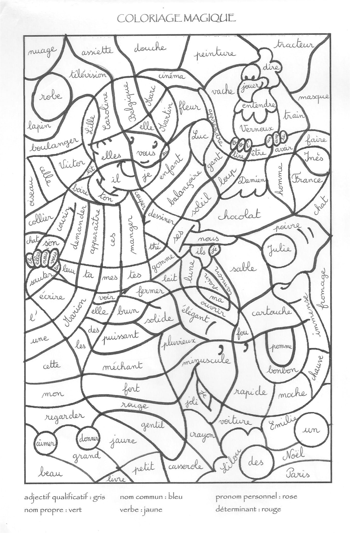Coloriage Magique Anglais Cycle 3 Supercoloriage Math 4 Kids