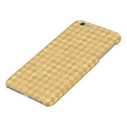 #customize - #Checkered Golden Matte iPhone 6 Plus Case