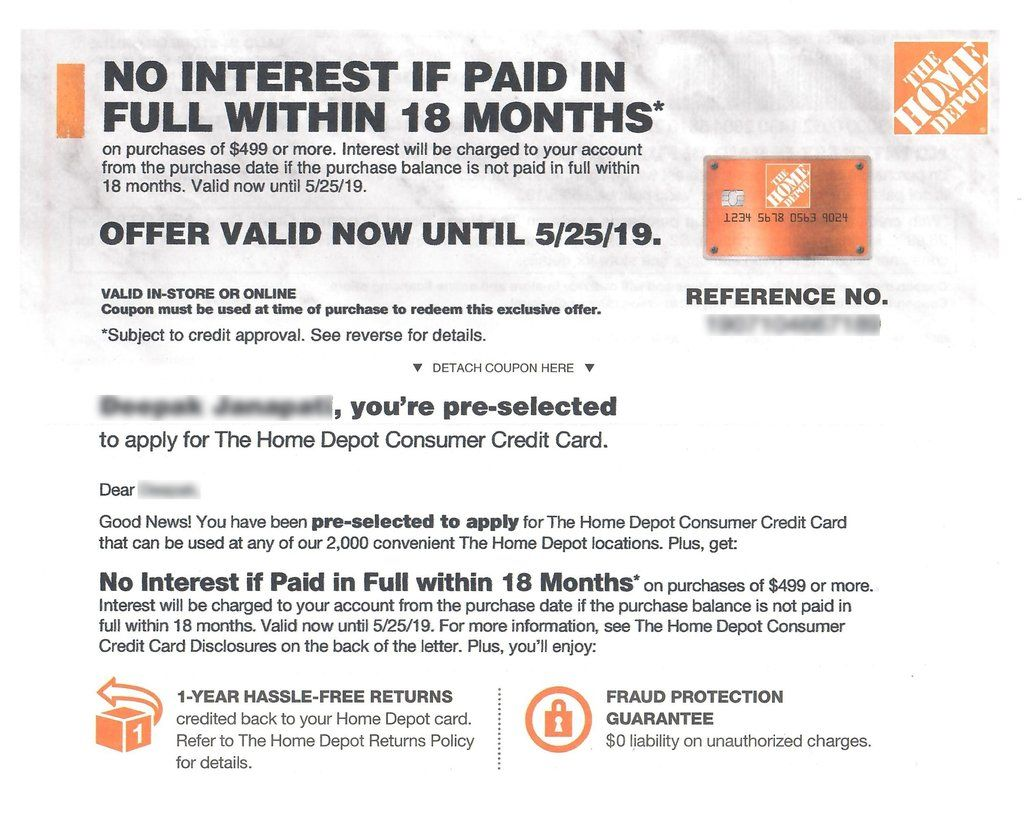 Home Depot−No Interest up to 24 Months Financing−𝗜𝗻𝘀𝘁𝗮𝗻𝘁