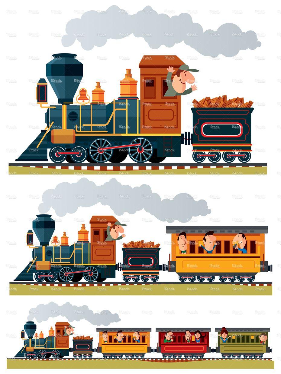 Vector Old Train Train Illustration Train Cartoon Old Train