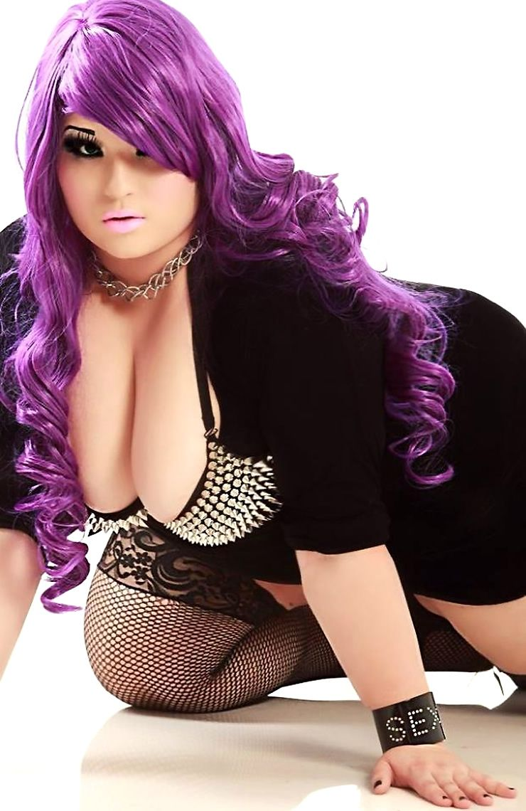 Bbw in purple