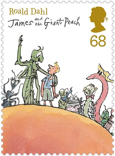 James & The Giant Peach Stamp