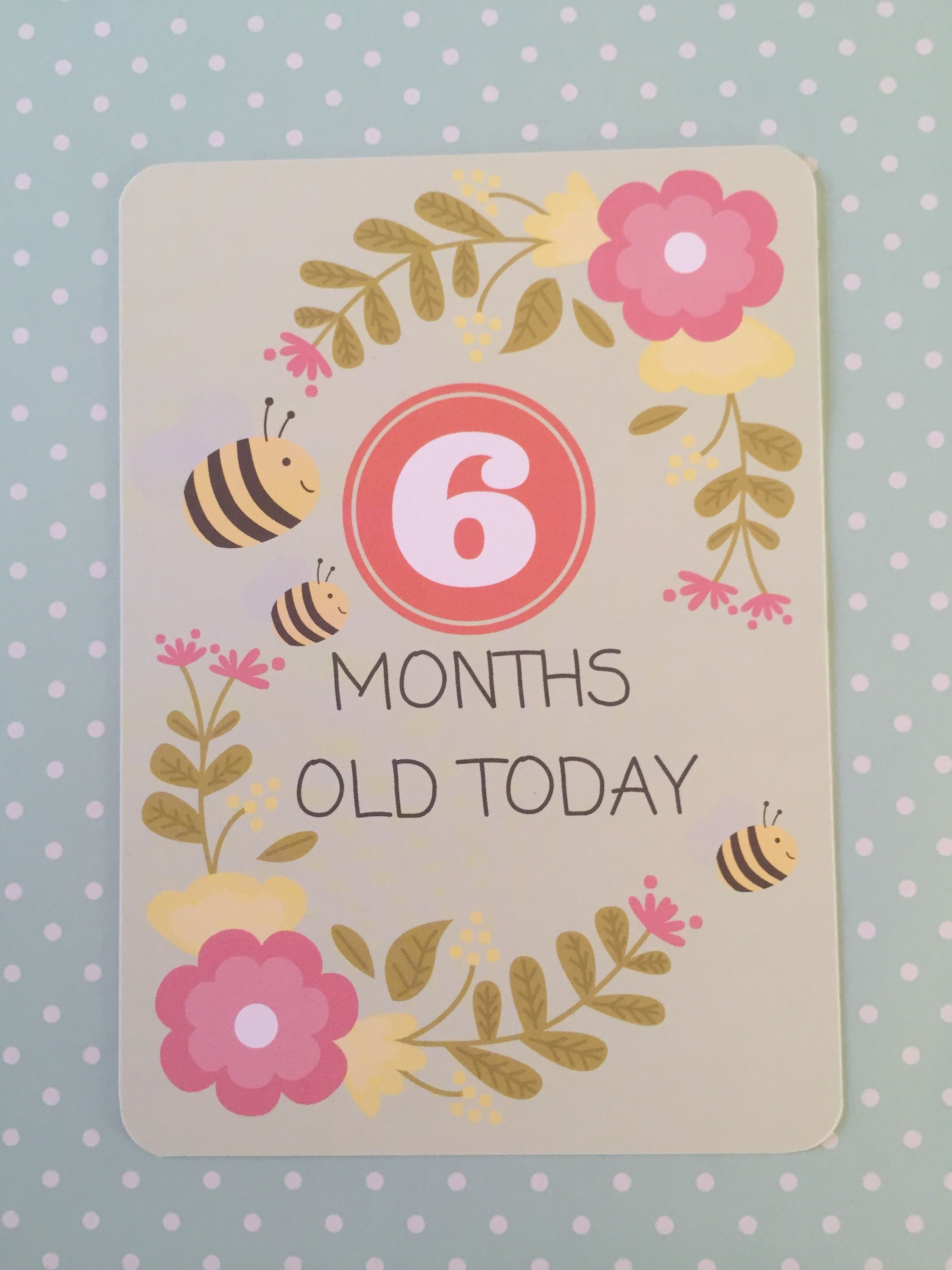 6 Months Old Baby Milestone Cards