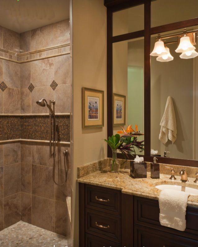 Love the bathroom tile and color scheme.   Bathrooms   Pinterest ...
