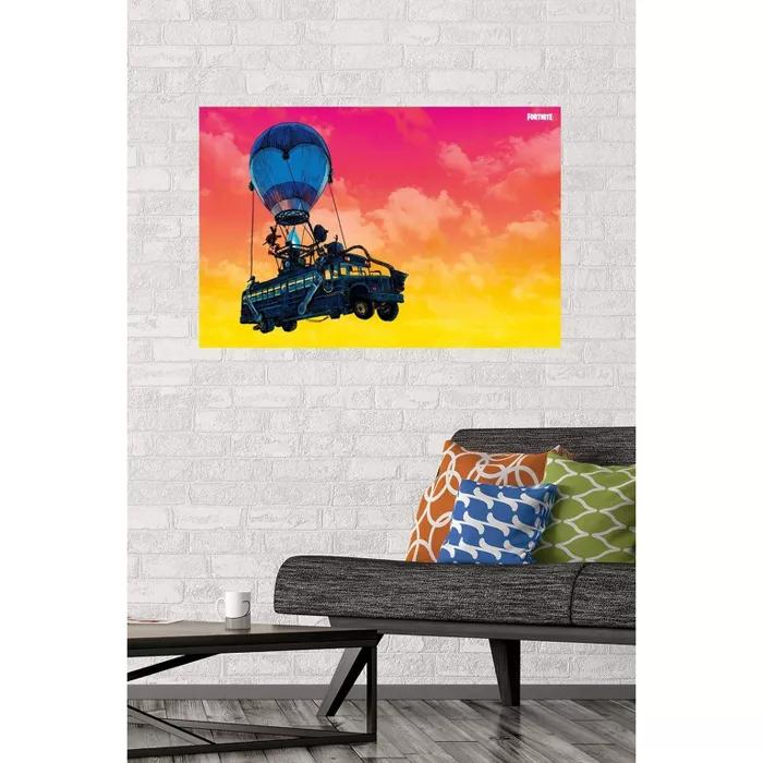 Fortnite Battle Bus Landscape Poster