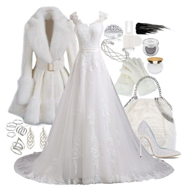 """Snow White Queen"" by secretsoftheslytherin ❤ liked on Polyvore featuring STELLA McCARTNEY, Kobelli, Casadei, Wallis, Topshop, Apt. 9, Essie, Isaac Mizrahi and Urban Decay"