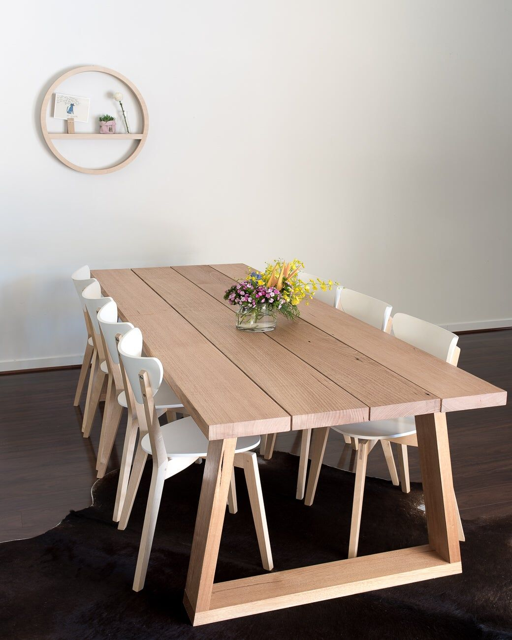 Plank Dining Table Timber Dining Table Scandi Dining Table