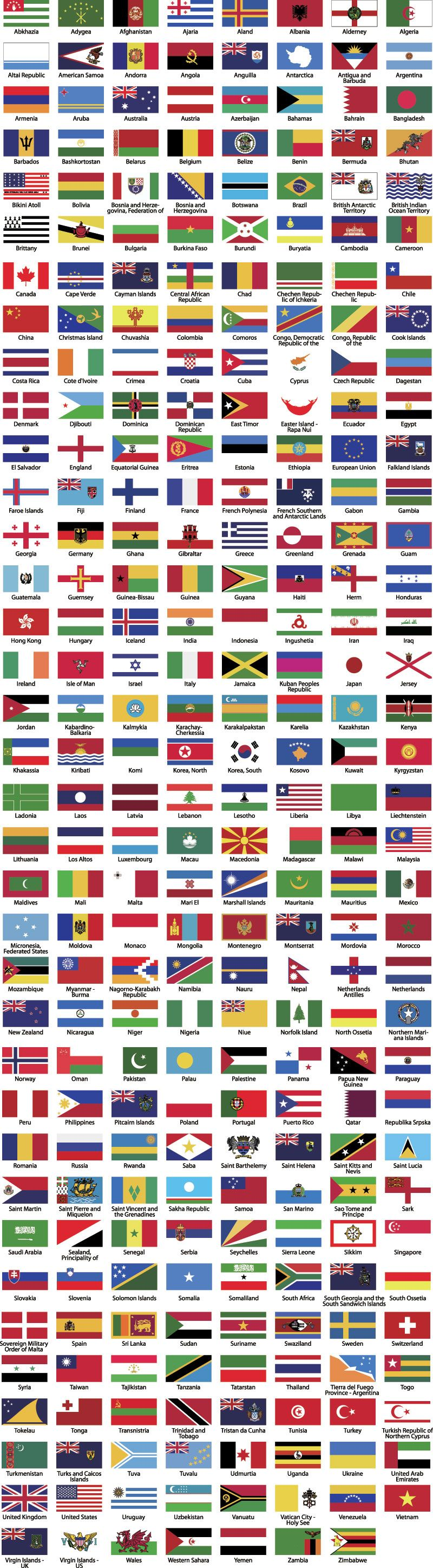 all world country flags there are around 200 countries in the