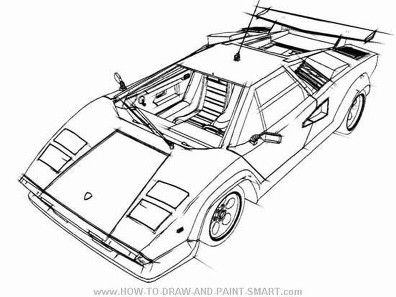 lamborghini countach coloring pages to print for free - Lamborghini Coloring Pages