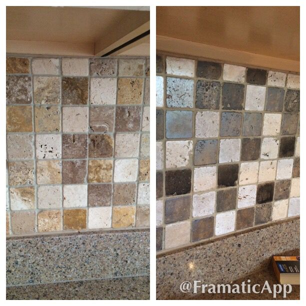 Floor Tile Paint Yes You Can Paint Floor Tiles Here S: Painted Travertine Tile Backsplash To Gray Tones