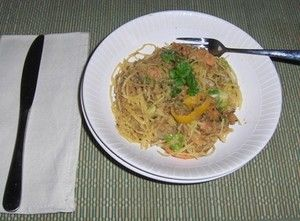 Asian-inspired spaghetti squash