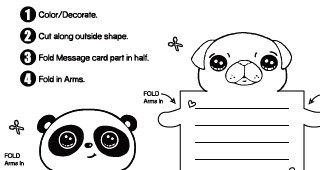 Cute Animal Message Cards Draw So Cute