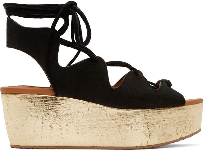 99aae3e1893 See by Chloé Black Suede Liana Sandals