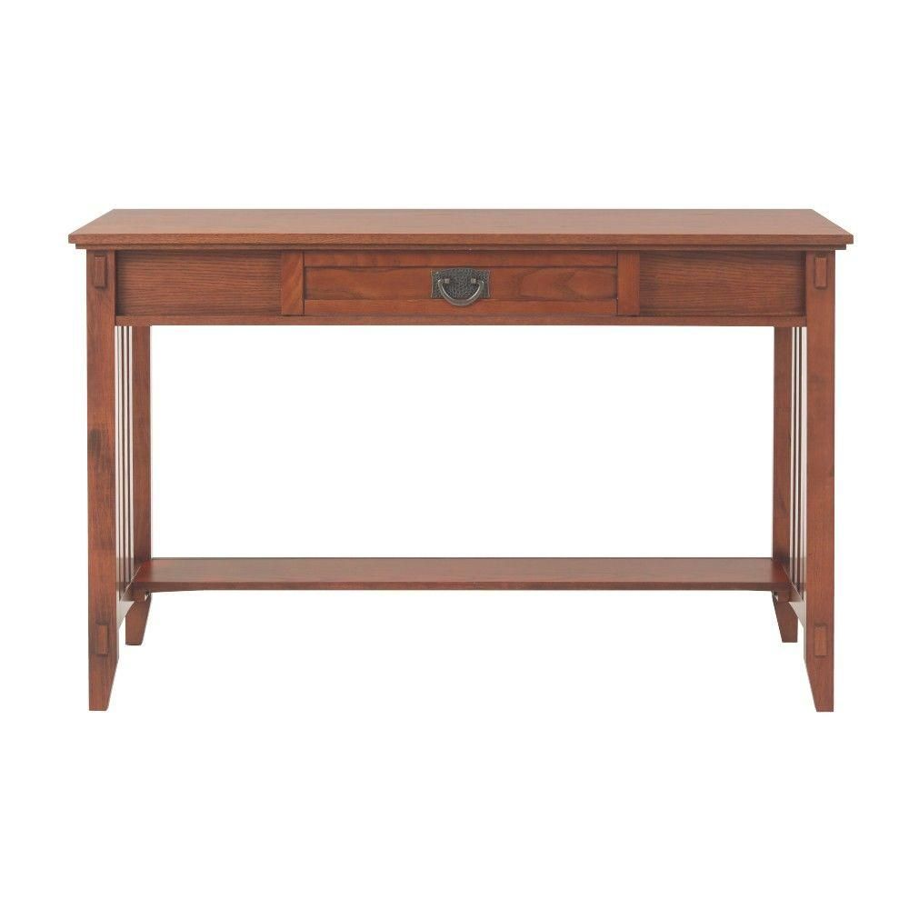 decorators office furniture. Home Decorators Collection Artisan Medium Oak Desk With Storage-9223400550 - The Depot Office Furniture R