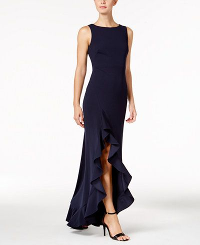 ad7a5aff920f Calvin Klein Ruffled High-Low Gown