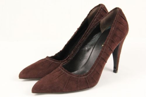 Prada Ruched Suede Pumps in China YAfSxELy8