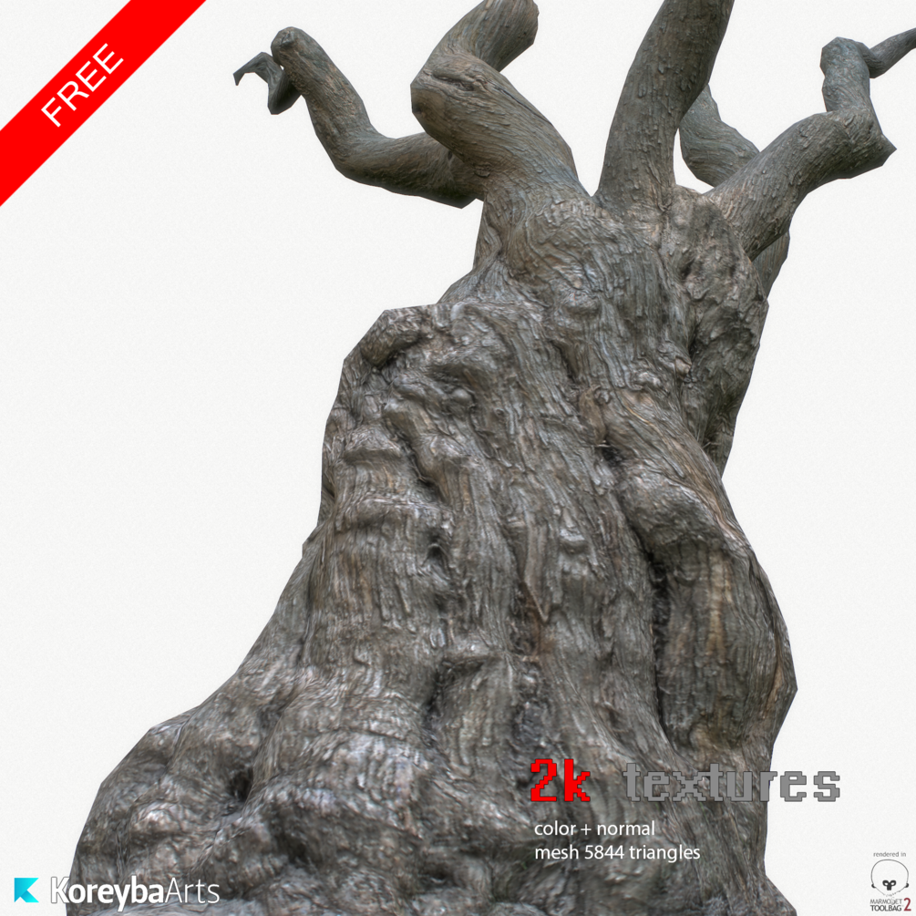 Gumroad - FREE Tree trunk, 3D model + 2k textures | Tree Trunk