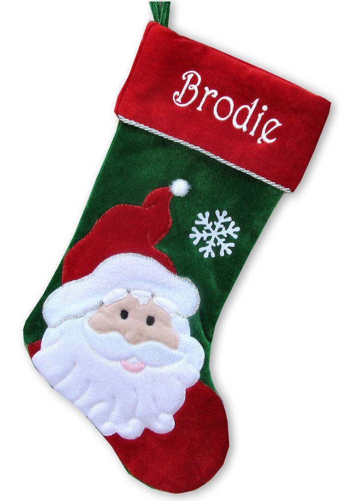 Stocking - Santa Snowman Personalized Kids Christmas Stockings ...