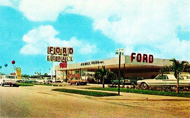J D Ball Ford Miami Fl 1965 Ford Car Dealership New Cars