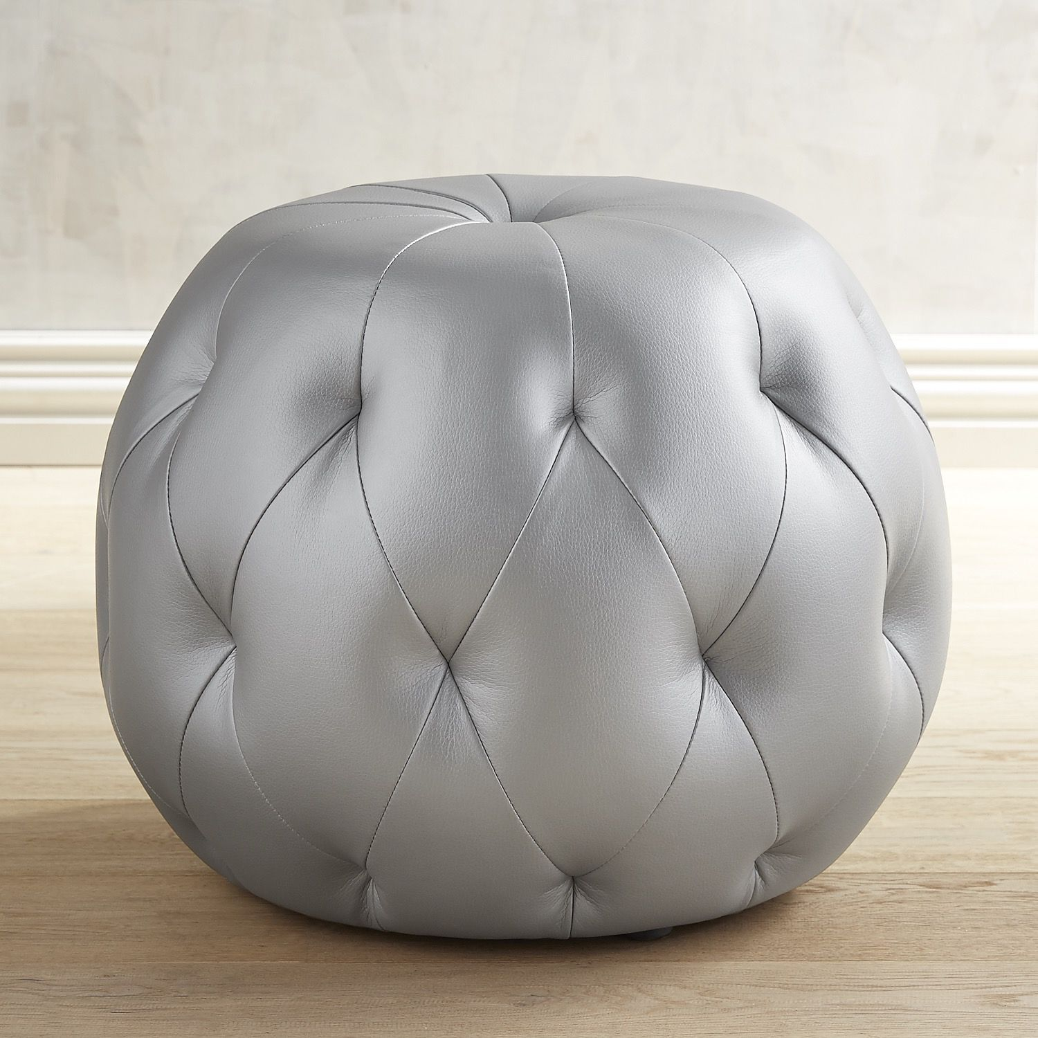 Ormand Frost Silver Ottoman | *Living Room > Ottomans* | Pinterest