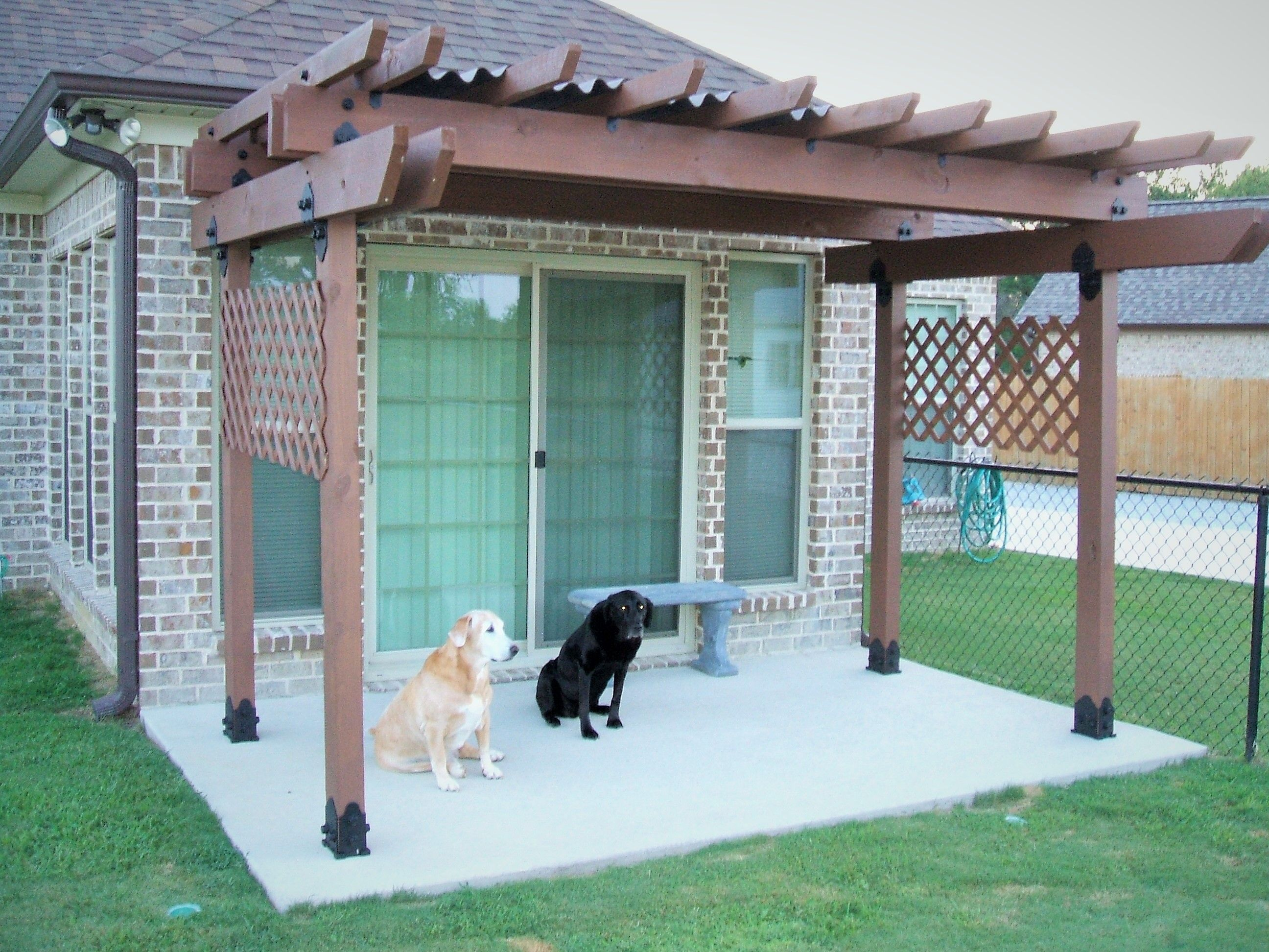 this patio pergola combo is puppy approved our website for this patio pergola combo is puppy approved our website for help building your