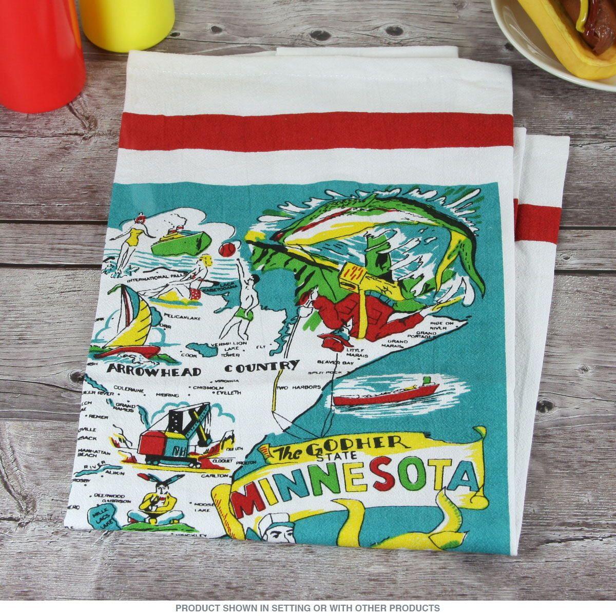 minnesota state map souvenir dish towel at the cabin towel rh pinterest com
