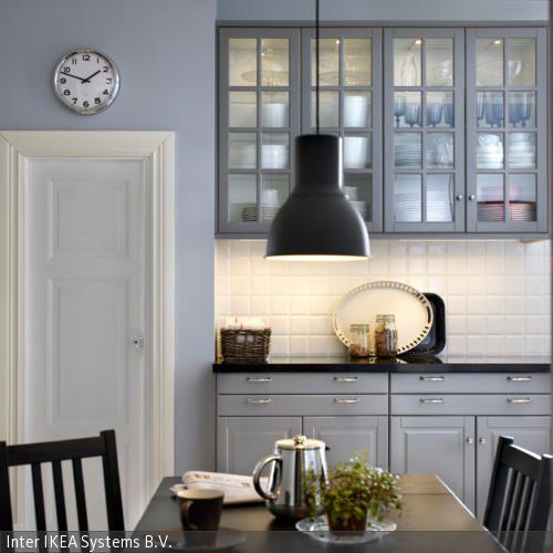 Landhausstil mit mordernem Touch Ikea küche, Himmelblau und - k chenzeile mit elektroger ten ikea