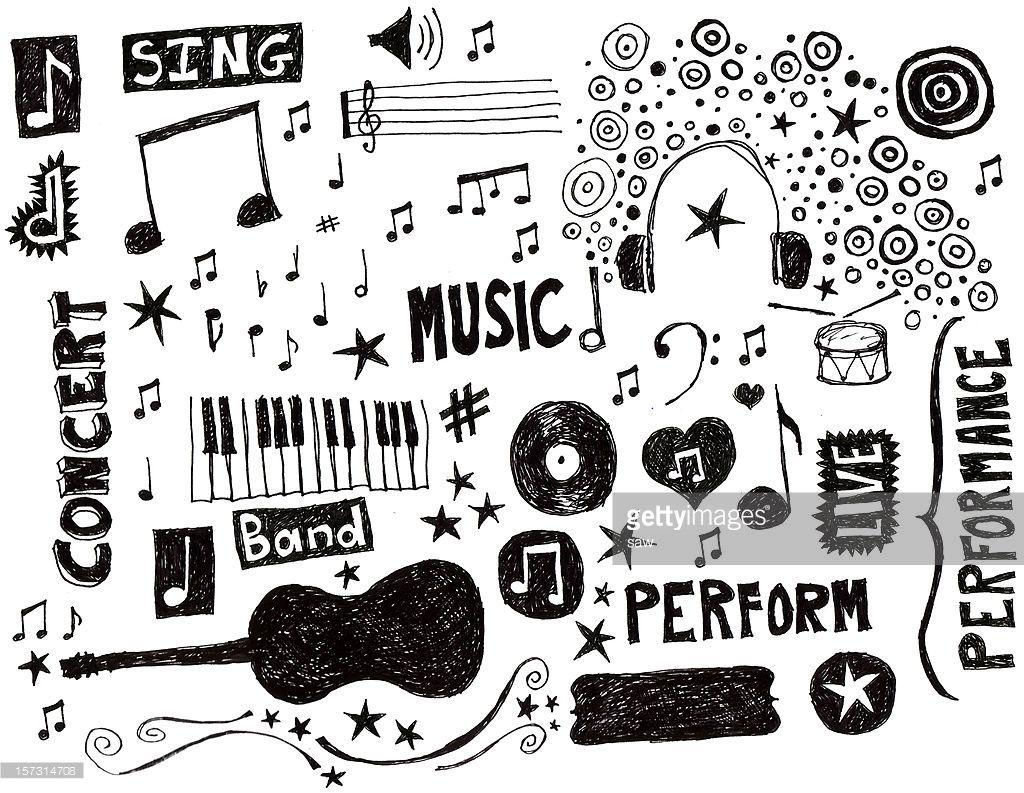 Music Doodle, Notebook Art