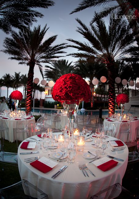 red reception wedding flowers wedding decor wedding flower centerpiece wedding flower. Black Bedroom Furniture Sets. Home Design Ideas