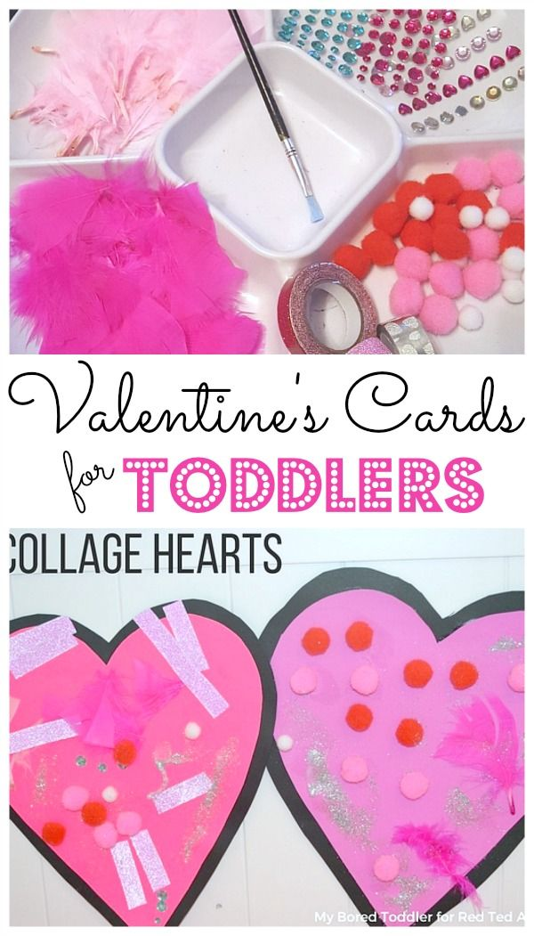 Collage Heart Cards For Toddlers Card Making Diy Ideas Pinterest
