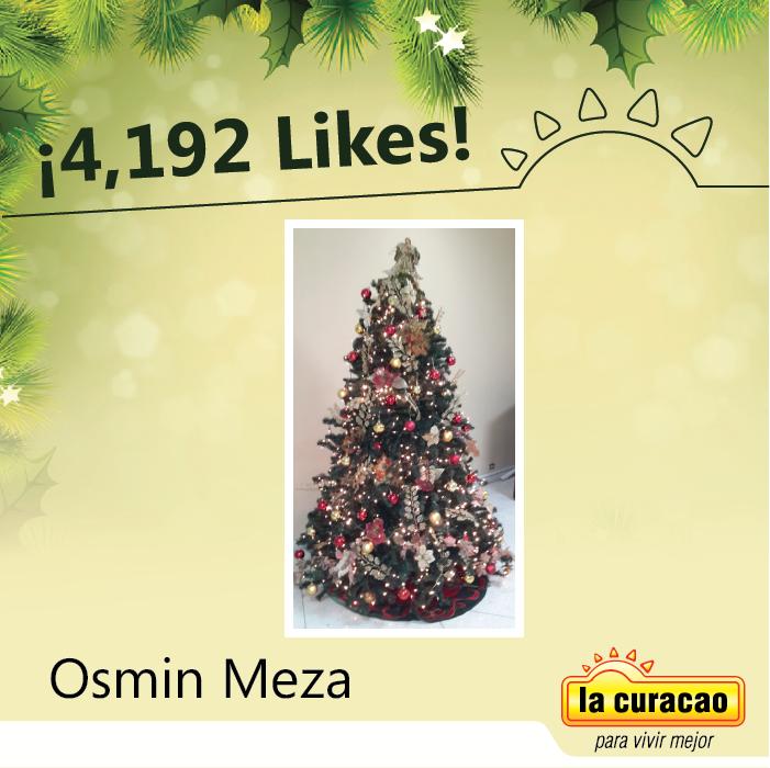 ¡¡Muchas Felicidades Osmin Meza :)!! le desea La Curacao por ser el ganador de un Reproductor de DVD que puedas disfrutar tus mejores vídeos y películas con tus amigos y familia :D.