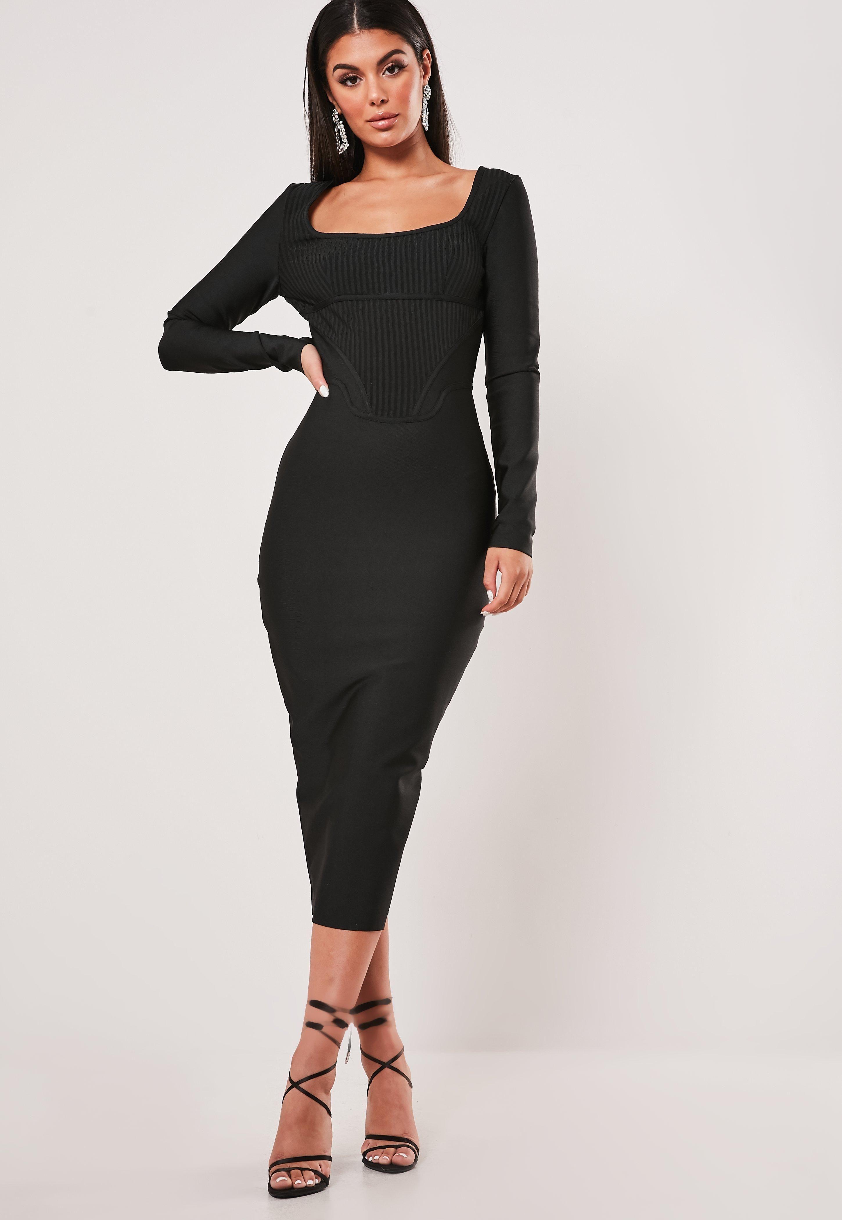 Premium Black Long Sleeve Bandage Corset Midi Dress Sponsored Long Affiliate Long Sleeve Midi Dress Long Sleeve Bandage Dress Black Long Sleeve Midi Dress [ 4200 x 2900 Pixel ]