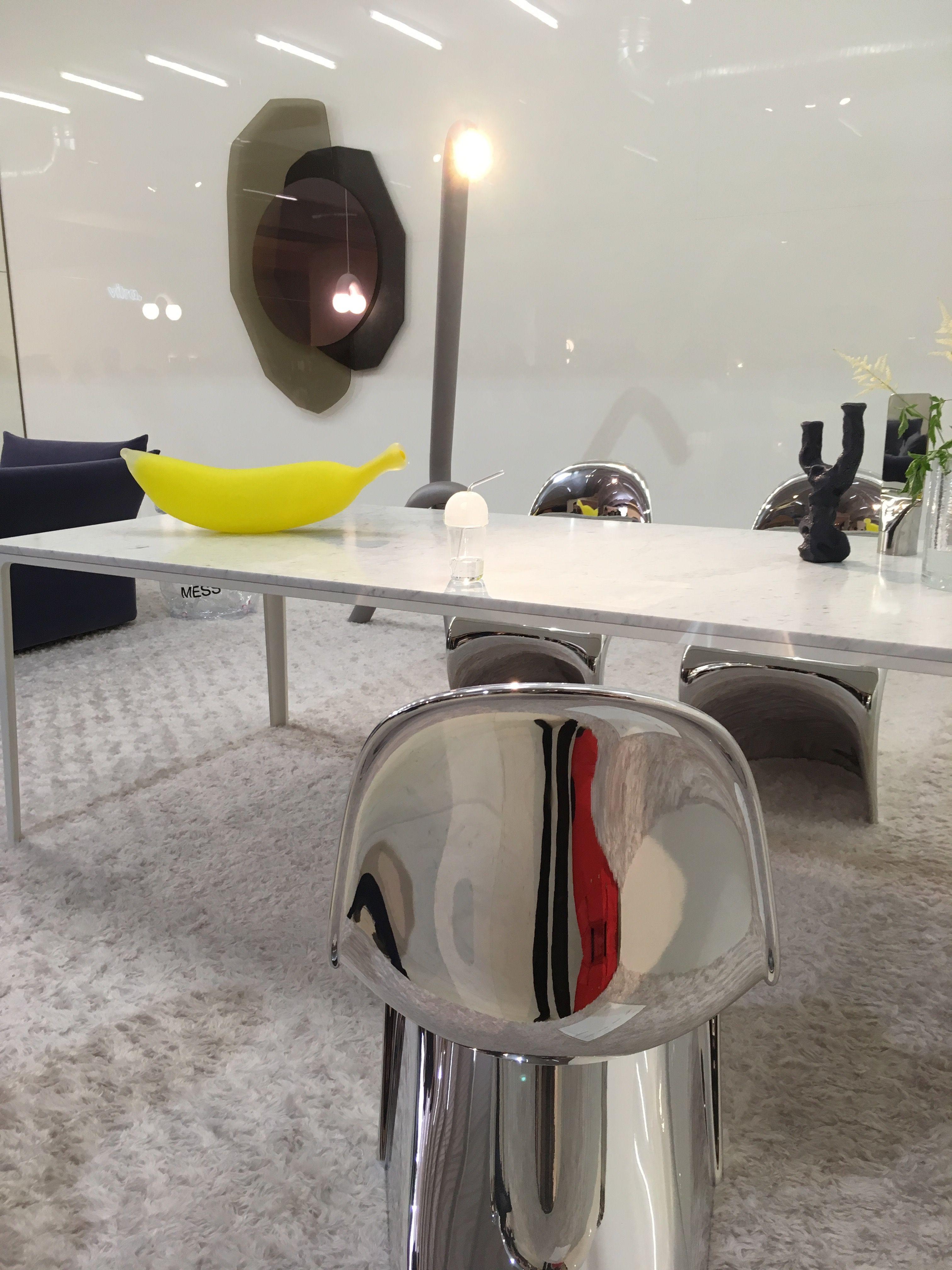 Panton chrome chair designed by verner panton for vitra