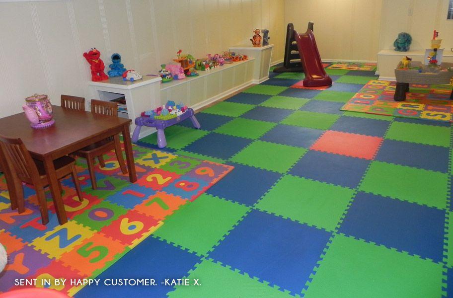 Soft Tile Basement Playroom Remodel 1 2 Inch Eco Soft
