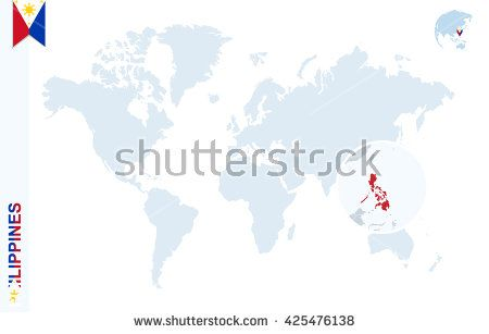 World map with magnifying on philippines blue earth globe with world map with magnifying on philippines blue earth globe with philippines flag pin zoom gumiabroncs Images