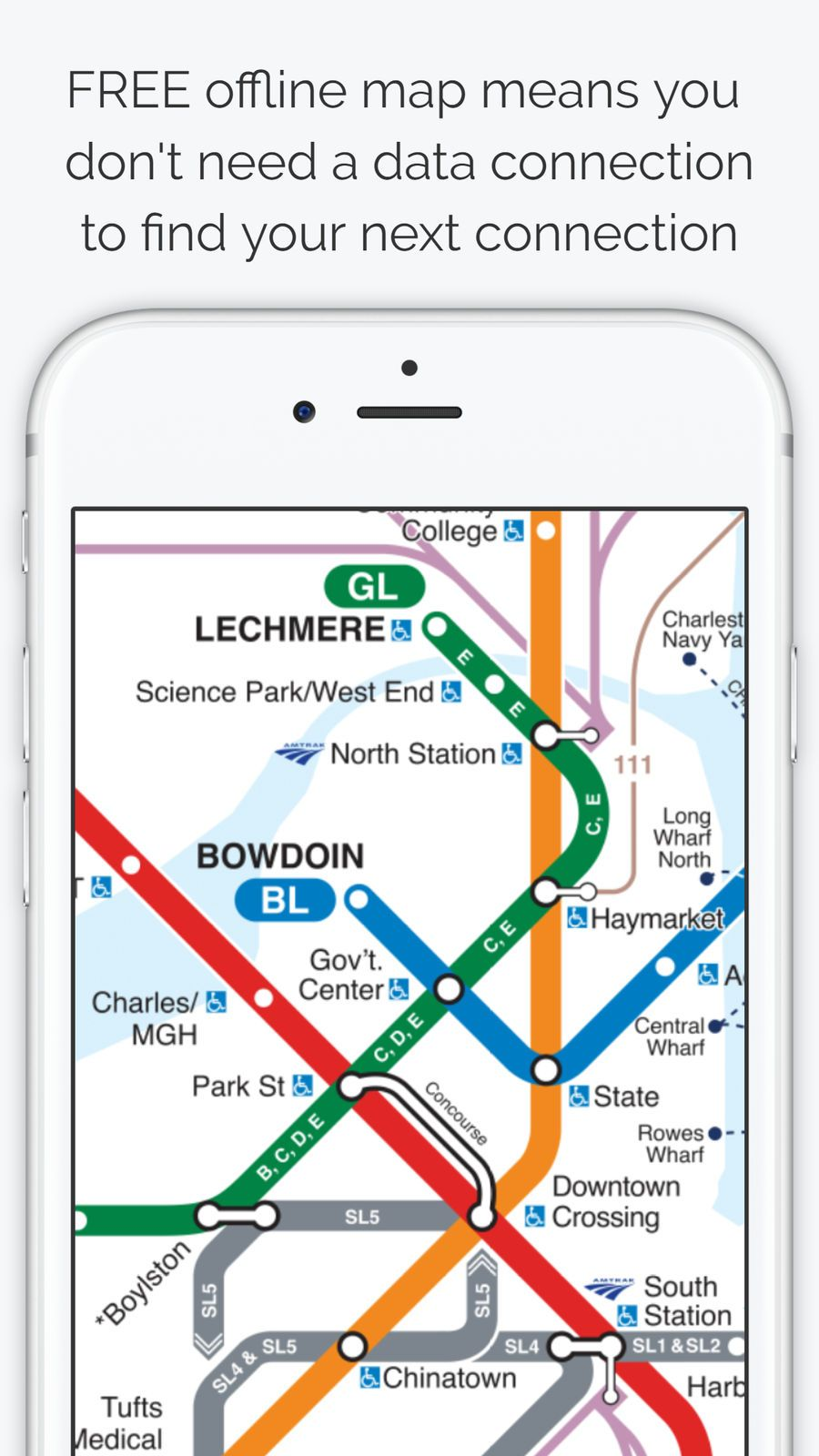 Boston Subway Map With Hotels.Boston Subway Map The T Travel Navigation Apps Ios Apple Game