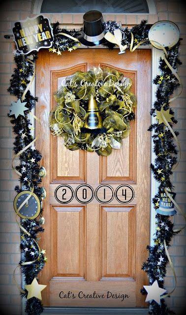 New Years Door @ Cat's Holiday & Home Decor | My Door ...