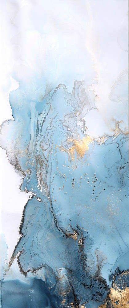 Photo of Blau und Goldmarmormalerei von Beth Nicholas. #Agate #Marble #Gradient