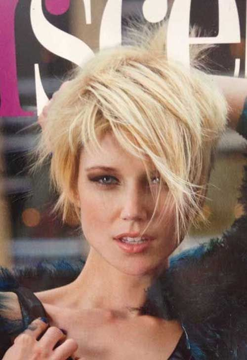 Super Wild Hairstyle With Peaks Short Shaggy Haircuts
