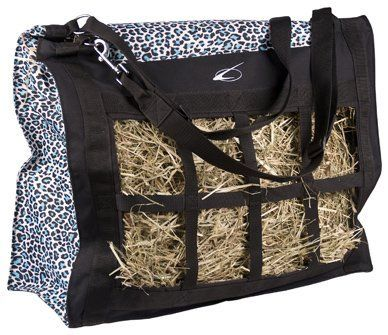 Leopard Print Top Load Hay Bag Color Teal Blk By Lami Cell