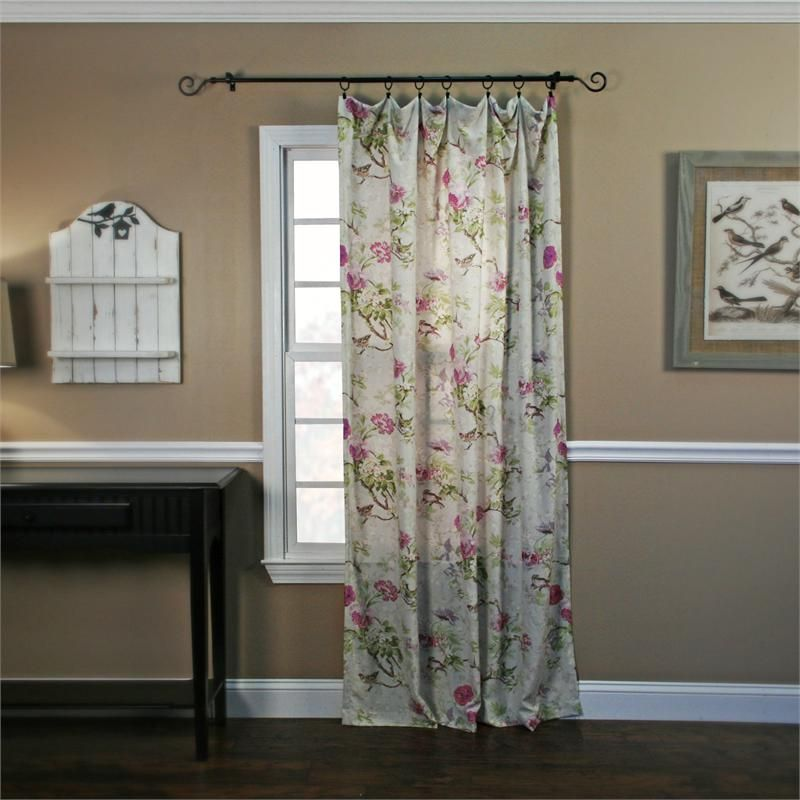 Balmoral Floral Curtain Panel With Images Dining Room Curtains