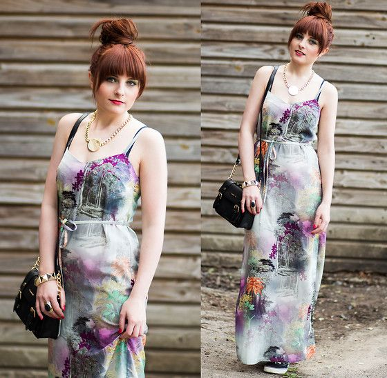 Purple printed maxi dress | Blog : Fashion-utopia.com