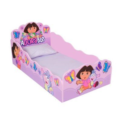 Dora the Explorer Wooden Toddler Bed  sc 1 st  Pinterest & Dora the Explorer Wooden Toddler Bed | Stephanieu0027s New Room (2nd ...