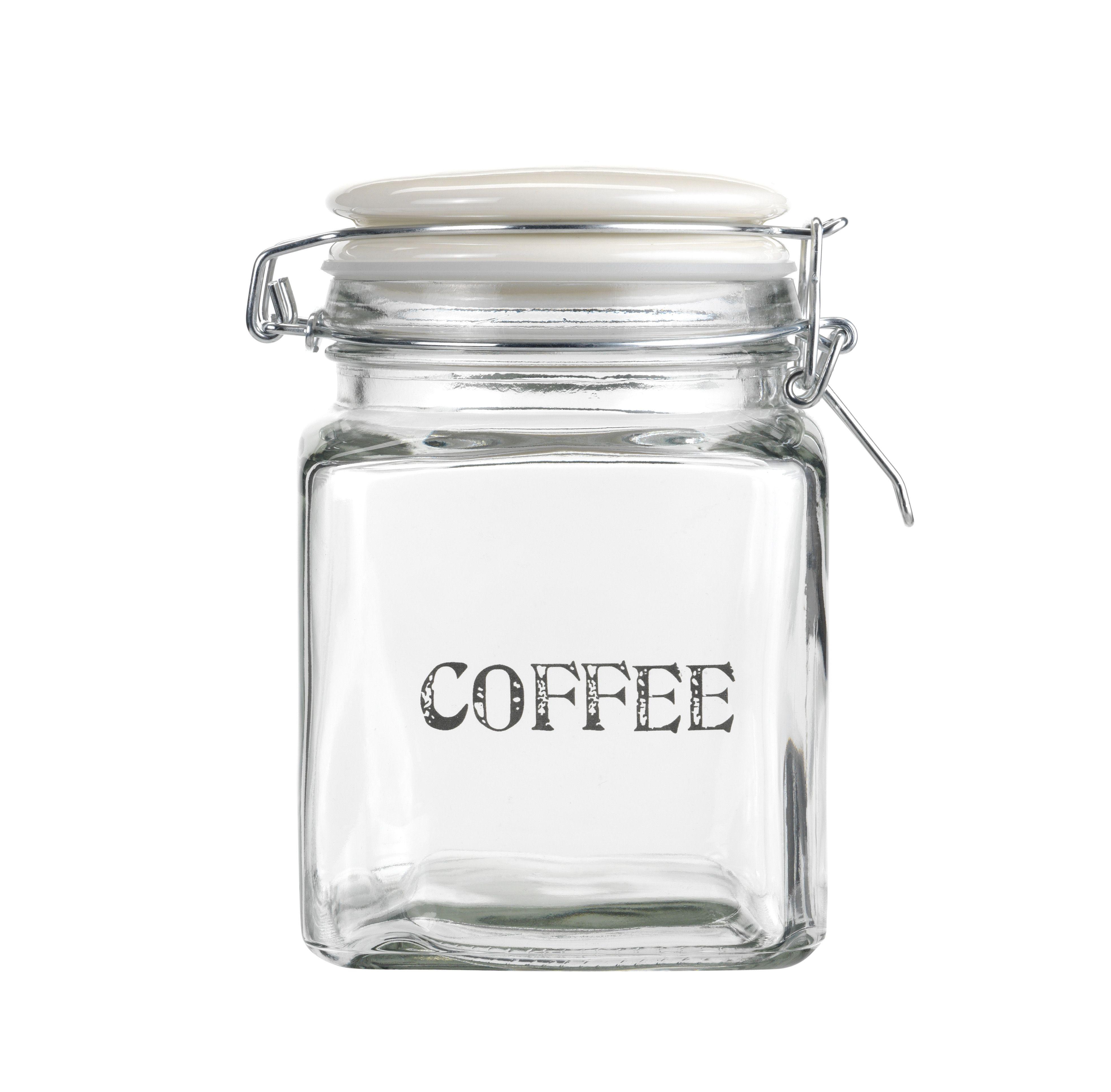 Give your coffee a new home Glass Coffee Storage Jar £6